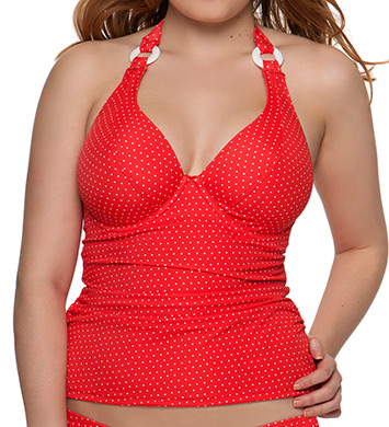 Curvy Kate Smooth Sailing Halterneck Tankini Swim Top
