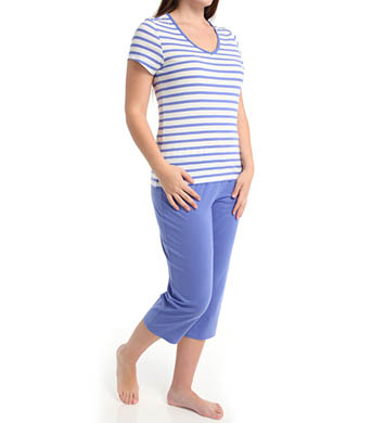 Dearfoams V Neck Capri PJ