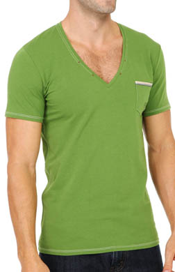 Diesel Jesse Cotton Stretch Deep V-Neck T-Shirt