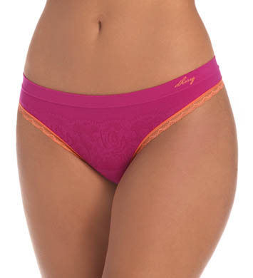 DKNY Fusion Lace Seamless Thong