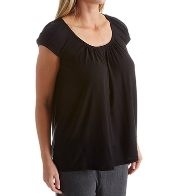 DKNY Urban Essentials Plus Size Short Sleeve Top