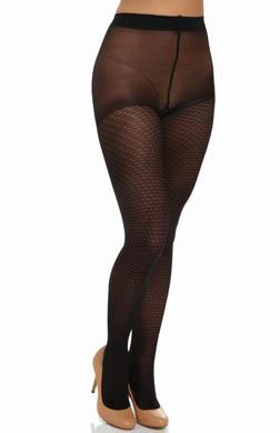 DKNY Hosiery Modern Diamond Mesh Control Top Pantyhose