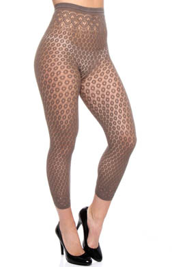 DKNY Hosiery Eyelet Lace Capri Tights