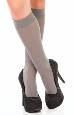DKNY Hosiery Pattern Lurex Knee Socks