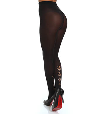 DKNY Hosiery Modern Graphic Laser Cut Out Tight