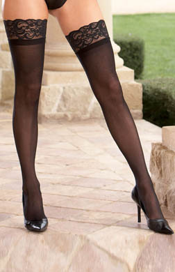 Dreamgirl Sheer Thigh High With Lace