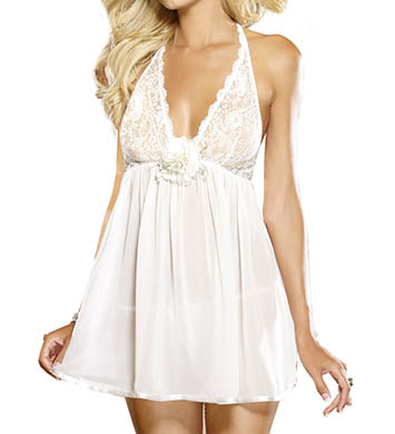 Dreamgirl Chiffon Babydoll And Matching Thong