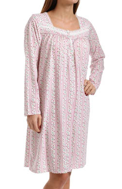 Eileen West Vintage Bloom Long Sleeve Short Nightgown