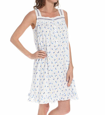 Eileen West Navy Short Nightgown