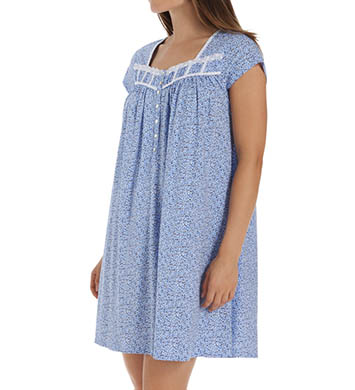 Eileen West Ditsy Cap Sleeve Short Nightgown