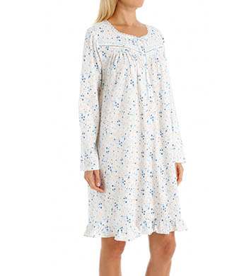 Eileen West Blueberry Long Sleeve Short Nightgown