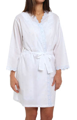 Eileen West The Romantics Short Wrap Robe