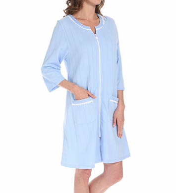 Eileen West Aurora Light French Terry Zip Front Robe