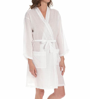 Eileen West Lucent Short Wrap Robe