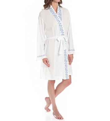 Eileen West Meadow Short Wrap Robe