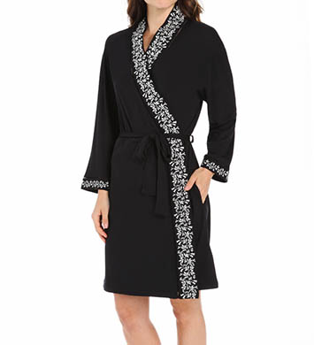Eileen West Lily Short Wrap Modal Robe