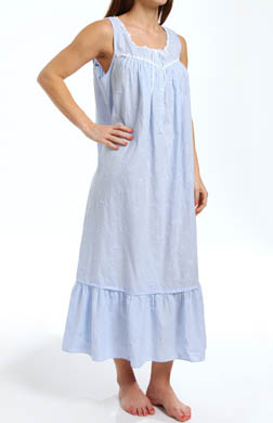 Eileen West Breaking Waves Sleeveless Ballet Nightgown