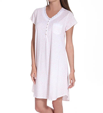 Eileen West Country Fields Cap Sleeve Nightgown