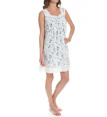 Eileen West Blue Daisy Short Nightgown