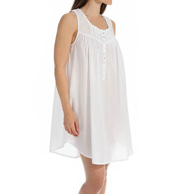 Eileen West Solid Short Nightgown