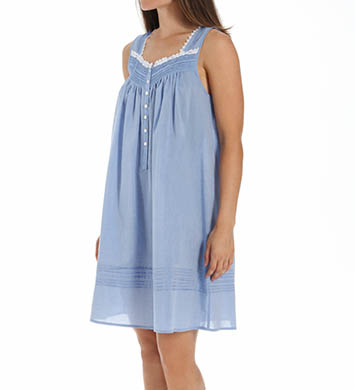 Eileen West Short Chambray Sleeveless Nightgown