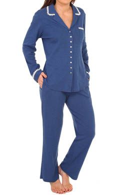 Eileen West Aegean Sea Long Sleeve PJ Set