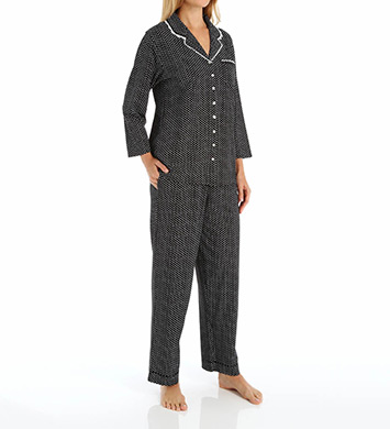 Eileen West Dandelion Notch Collar Jersey PJ Set
