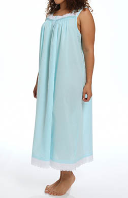 Eileen West Sparkling Sea Plus Size Sleeveless Nightgown