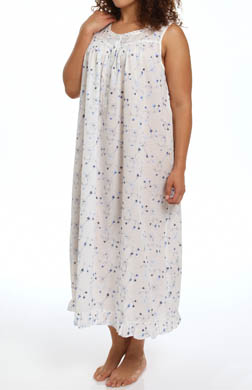 Eileen West Italian Romance Plus Size Sleeveless Nightgown