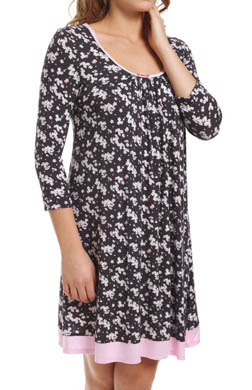 Ellen Tracy Long Sleeve Scoop Chemise