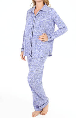Ellen Tracy Classics & Comfy Long Sleeve Long PJ Set