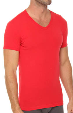 Emporio Armani Colored Stretch Cotton V-Neck