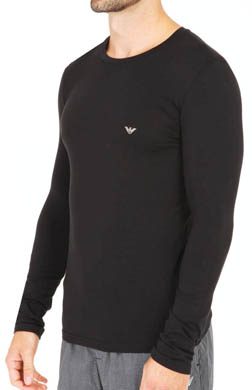 Emporio Armani Cotton Modal Long Sleeve T-Shirt