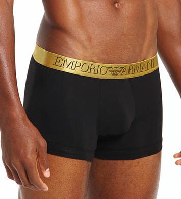 Emporio Armani X-Mas 3D Stretch Cotton Trunks - 2 Pack