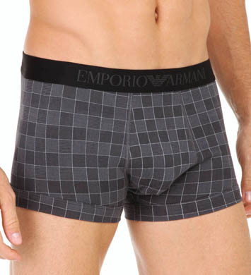 Emporio Armani Printed Fantasy Stretch Cotton Trunks