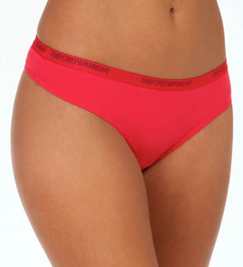 Emporio Armani 3D Eagle Stretch Cotton Thong