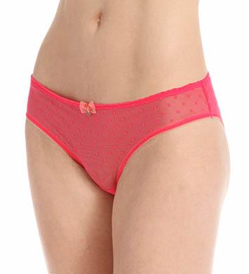 Emporio Armani Coquette Dotted Mesh Brief Panty