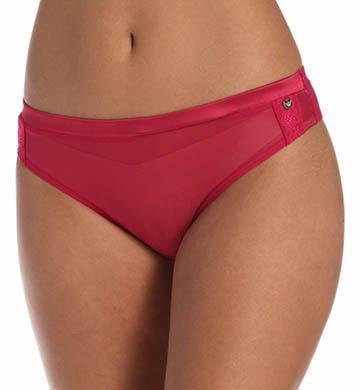 Emporio Armani Chic Mesh & Lace Brazilian Brief Panty