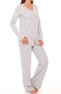 Emporio Armani Surprise Cotton and Lace Pajama Set