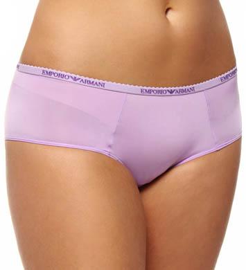 Emporio Armani Caresse Light Solid Microfiber Logo Culotte Panty