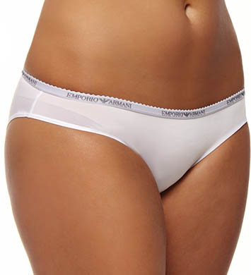Emporio Armani Caresse Light Solid Microfiber Logo Brief Panty