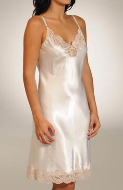 Farr West Satin Applique Adjustable Strap Chemise