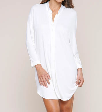 Fleur't Fleur't At Night Collar Cuffed Sleeve Nightshirt