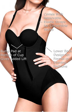 Flexees Easy Up Strapless Firm Control Bodybriefer