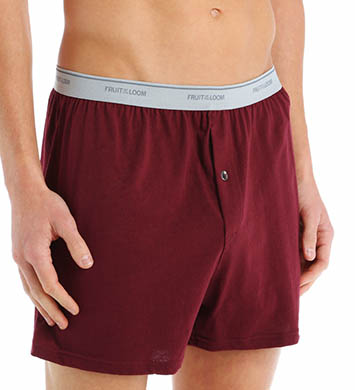 Fruit Of The Loom Big Man Exposed Waistband Knit Boxers - 3 Pack