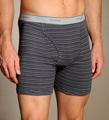Fruit Of The Loom Big Man Stripe/Solid Boxer Briefs - 4 Pack