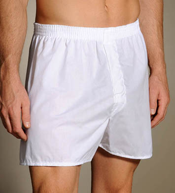 Fruit Of The Loom White Woven Boxers - 3 Pack