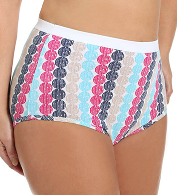 Fruit Of The Loom Ladies Fit for Me Cotton Brief Pant - 3 Pack