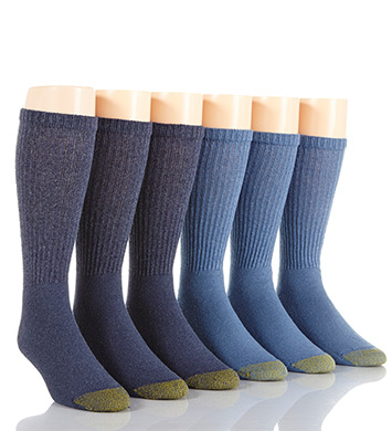Gold Toe Cushioned Cotton Crew Socks - 6 Pack