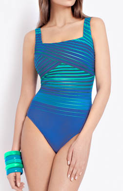 Gottex Essentials Ocean Riley Square Neck Swimsuit